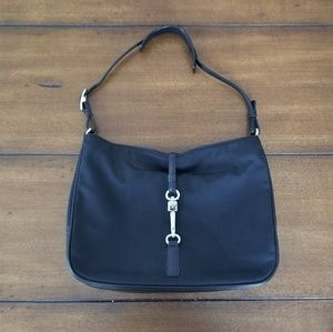 Black Coach small mini shoulder clip bag